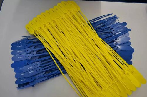 1000 lacres plastico numerados anti furto 30 cm azul