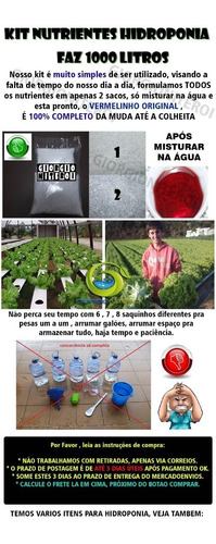 1000 litro nutrientes hidroponia fertilizante adubo planta