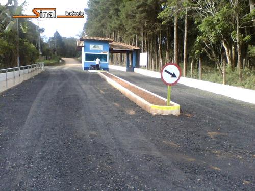 1000 m² - condomínio na represa-entrada de r$30.000-cód.t005