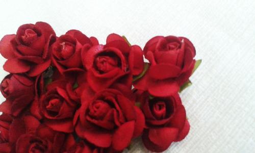 1.000 mini rosinhas escolha a cor abertas pacotes papel