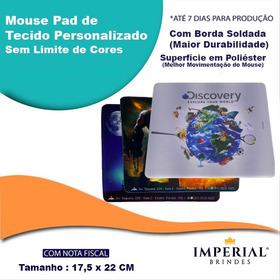 1000 Mouse Pad Tecido Borda Soldada Personalizado 18 X 22 Cm