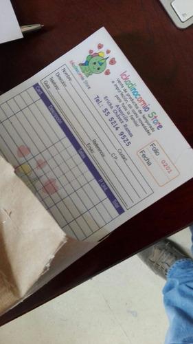 1000 notas de remisión autocopiante foliadas a color cdmx