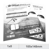 1000 panfletos 10x15 preto e branco