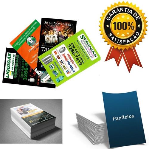 1000 panfletos coloridos sulfite75g hp 10x14cm + arte grátis