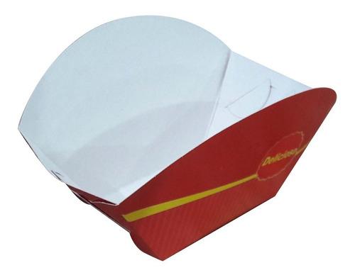 1000 pçs cestinha embalagem batata fritas e  recheada porção