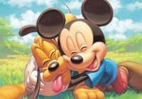 1000 pedazos de mickey mouse u0026 plutón d