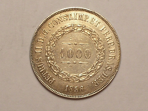 1.000 réis. 1856 - data não emendada