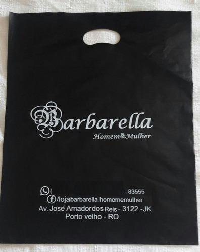 1000 sacolas plásticas personalizadas 20x30