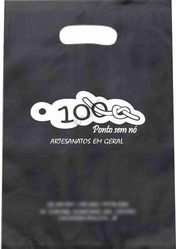 1.000 sacolas plásticas personalizadas 25x35 / 0,13mm