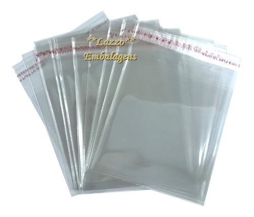 1.000 saquinhos adesivados para bijuterias 8,5x12cm +aba