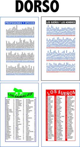 1000 sobres bolsa p/quiniela publicidad full color doble faz