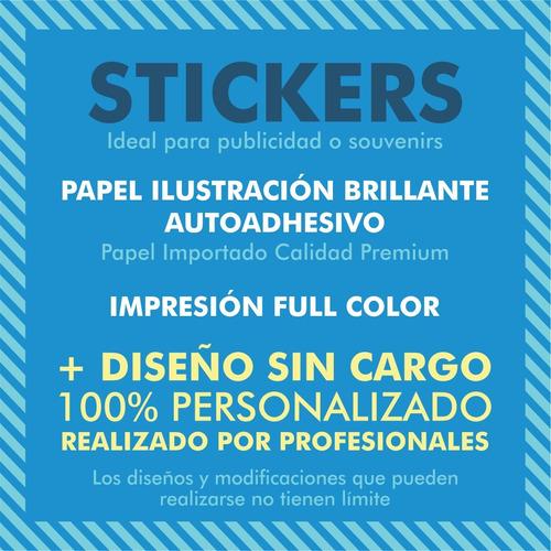 1000  stickers publicitarios souvenir 10x7cm + diseño gratis
