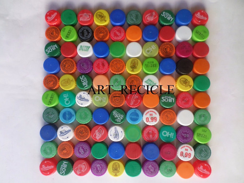 1.000 tampinhas de garrafas pet p/ artesanato frete grátis.
