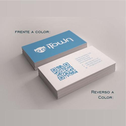 1000 tarjetas de presentación 4x4 todo color laminado mate
