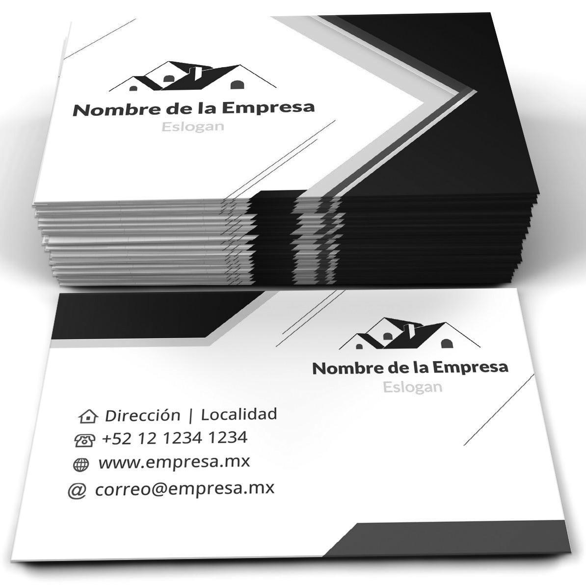 9b794a6b71f4e 1000 Tarjetas De Presentación Blanco Y Negro