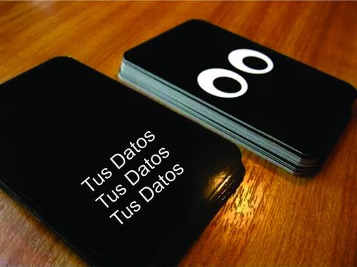 1.000 tarjetas de presentación brillantes o mateuv