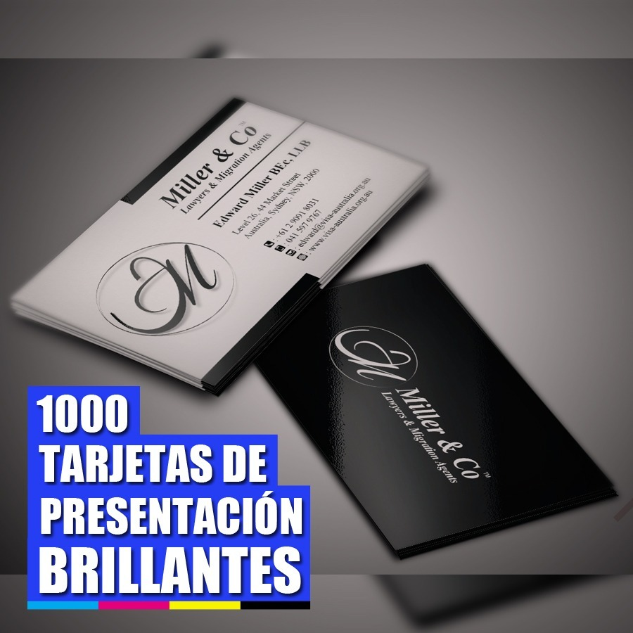 028d572fee9bc 1000 Tarjetas De Presentación Doble Impresión (4x2) -   42.500 en ...