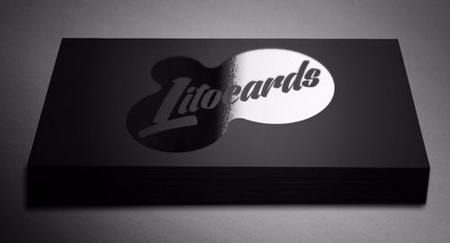 1000 tarjetas de presentacion full color mate + uv selectivo
