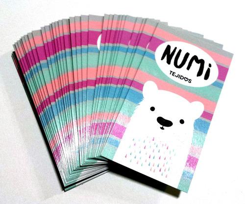1000 tarjetas personales 350gr full color bifaz - brillo fte
