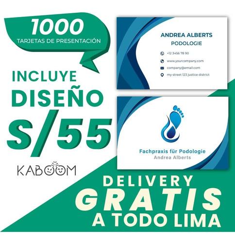 1000 tarjetas personales de presentación delivery gratis