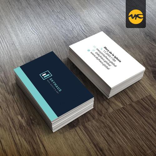1000 tarjetas personales full color frente y dorso