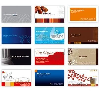 1000 tarjetas personales o comerciales a todo color