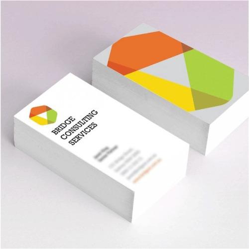 1000 tarjetas presentación uv mate todo color ambos lados