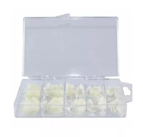 1000 tips unha postiça p/ gel acrigel acrilica acrygel nail