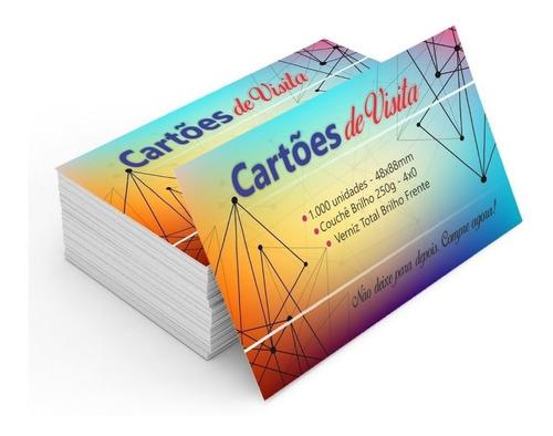 1000 un. cartões de visita 4x0