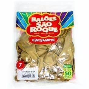 1000 und balão são roque nº7 dourada cintilante frete grátis