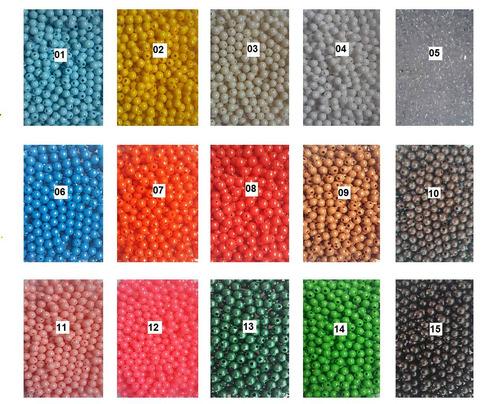 1000 unid micanga bola conta plástico 6mm várias cores