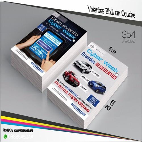 1000 volantes flyers publicitarios 10 cm x 21