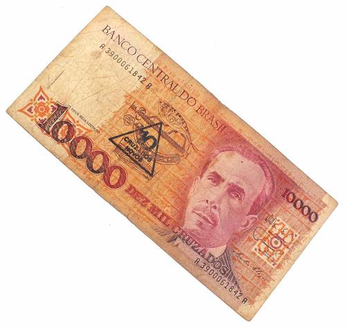 10000 dez mil cruzados antiga nota cedula nacional n0237