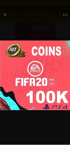 100k coins  fifa 20 ps4 - envio imediato