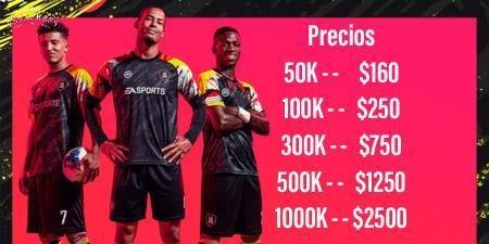 100k monedas fifa 20 ultimate team - futcoinsuy