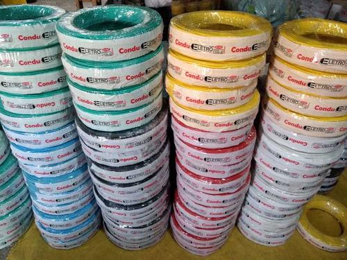 100mts cabo eletrico 2,5mm fio colorido autoflex flexivel