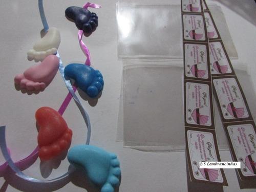 100pares pezinhos de sabonete lembrancinha + embalagem + tag