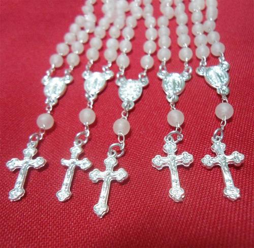 100un mini terços lembrancinhas,crisma,batizados,folha prata