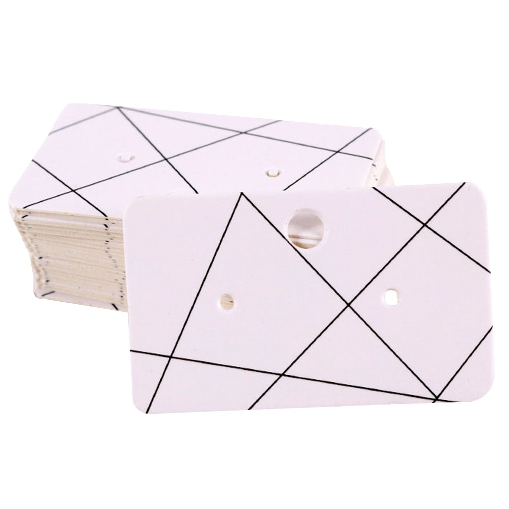 8a13d3a6b 100x jewelry earring ear studs hanging display hang cards 5. Cargando zoom.