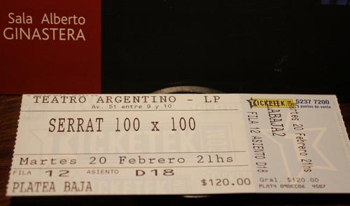 100x100 serrat programa y entrada teatro argentino la plata
