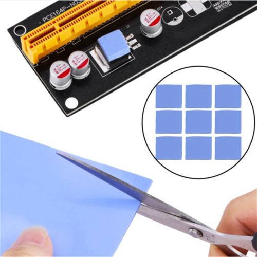 100x1cm2 thermal pads de silicona para disipadores de calor
