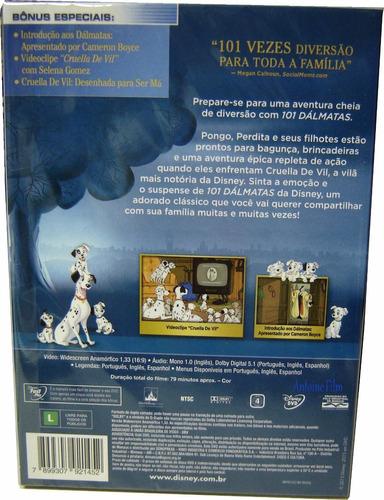101 dalmatas - walt disney - dvd c/ luva - novo lacrado