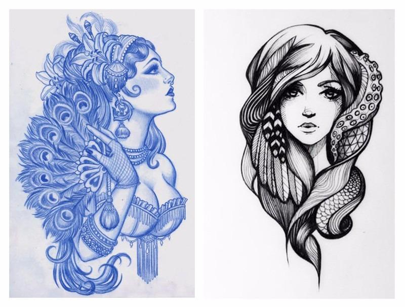 Catalogo De Tatuajes 101 ideas para tatuajes femeninos - catálogo de ejemplos - bs. 0,01