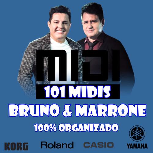 101 playbacks midis - bruno & marrone para teclados musicais