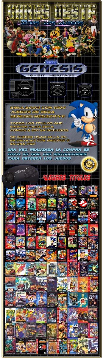 1010 Juegos De Sega Para Pc Pc Android Psp Envio Inmediato 75
