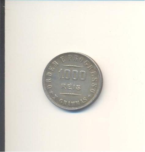 1015-mil réis de prata - 1909 - brasil república.