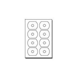 104 etiquetas para cd card oval papel blanco autoadherible