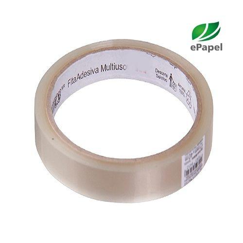 104 rolos fita adesiva média 18mm 18x100 super durex transp