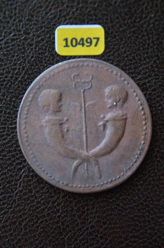 10497 antiga moeda a s tibério 32/48 d c  bronze
