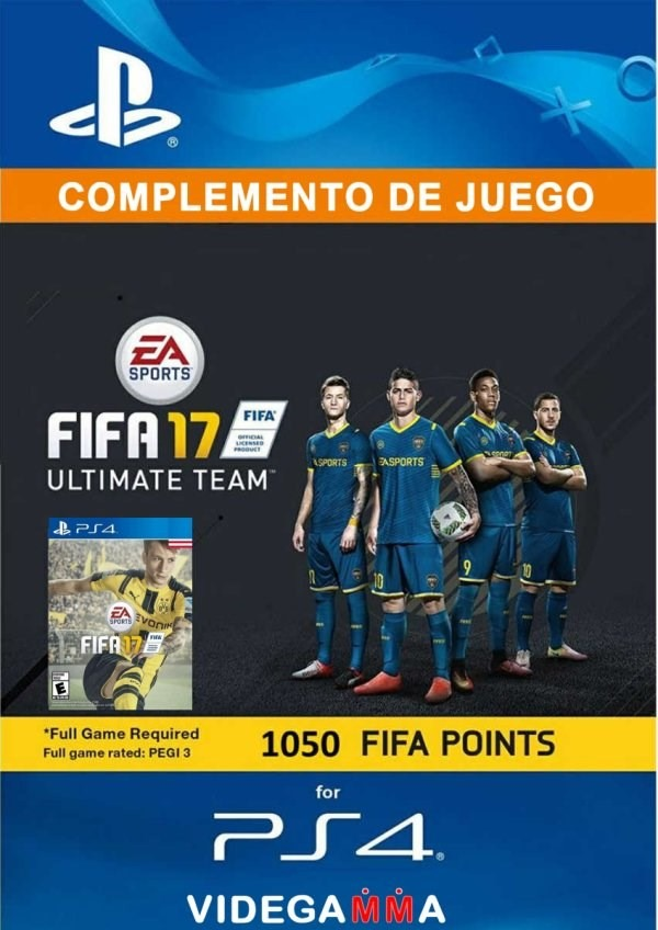 1050 fifa points - fifa 17 - playstation 4 - codigo digital